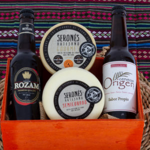 Pack regalo con queso y cerveza artesana de Almería